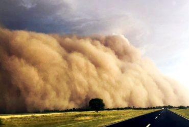 Tormenta de tierra en La Pampa